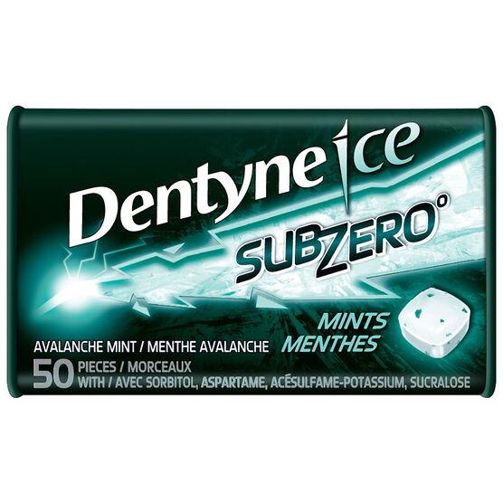 Dentyne Ice Subzero Mints - Avalanche - 50 pieces