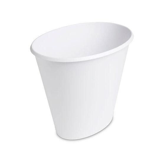 Sterilite Oval Wastebasket - White - 9.5 L