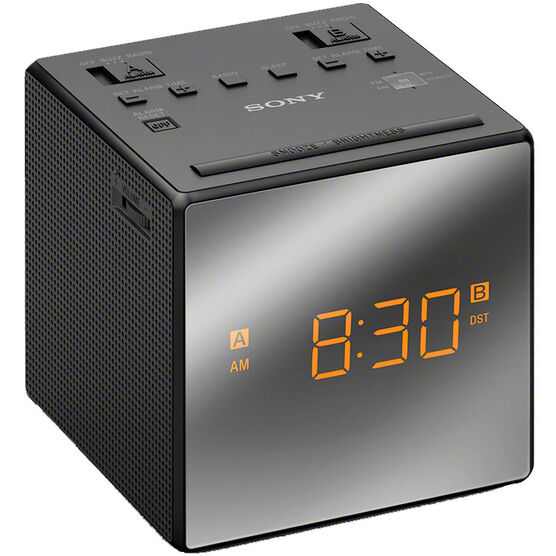 Sony AM/FM Dual Alarm Clock - Black - ICFC1TB