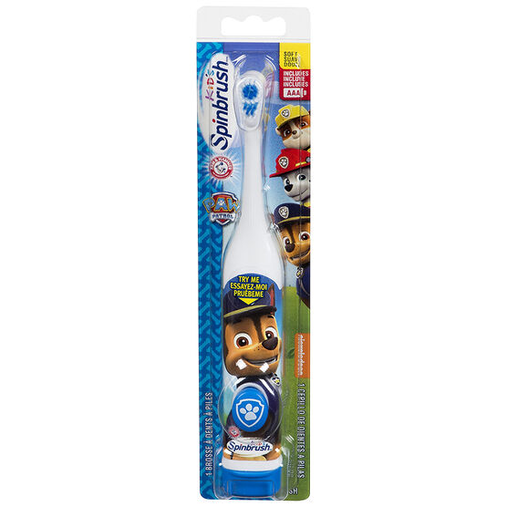 Arm & Hammer Spinbrush Battery Operated Toothbrush - Paw Patrol