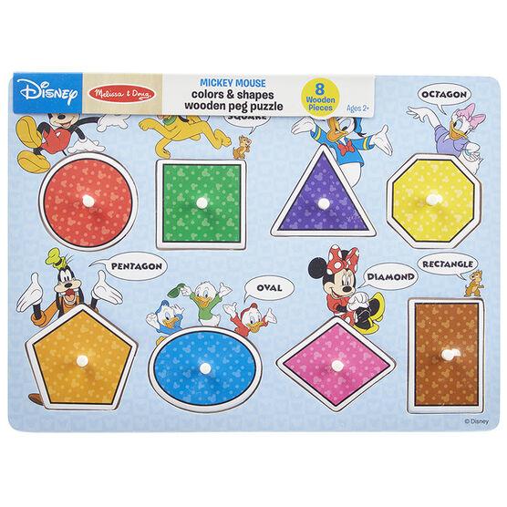 Melissa & Doug Mickey Shapes Peg Puzzle