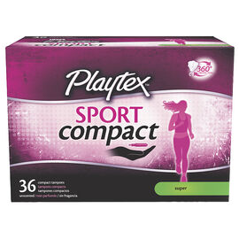 Playtex Sport Compact Tampons - Super - 36's