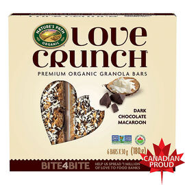 Nature's Path - Love Crunch Premium Organic Granola Bars - Dark Chocolate Macaroon - 180g