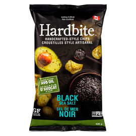 Hardbite Potato Chips - Black Sea Salt - 128g