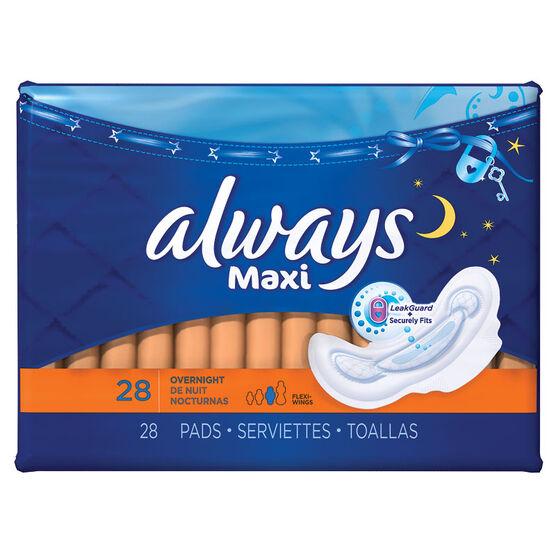 Always Maxi - Overnight - 28's