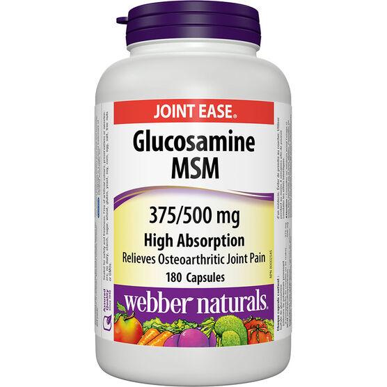 Webber Naturals Glucosamine & MSM 375mg/500mg - 180's