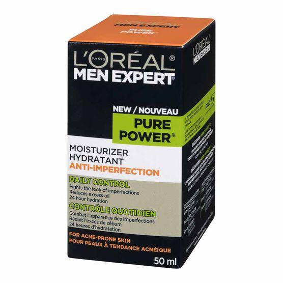 L'Oreal Men Expert  Moisturizer for Acne Prone Skin - Pure Power - 50ml