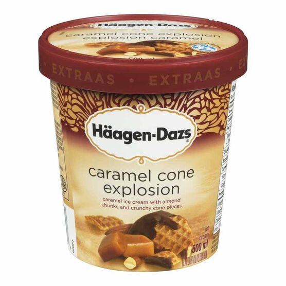 Haagen Dazs Ice Cream - Caramel Cone Explosion - 500ml