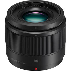Panasonic LUMIX G 25mm F1.7 Lens - Black - HH025