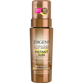 Jergens Natural Glow Instant Sun Sunless Tanning Mousse - Deep Bronze - 180ml