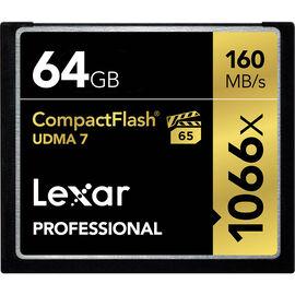 Lexar Professional 1066x Compact Flash Card - 64GB - LCF64GCRBNA1066