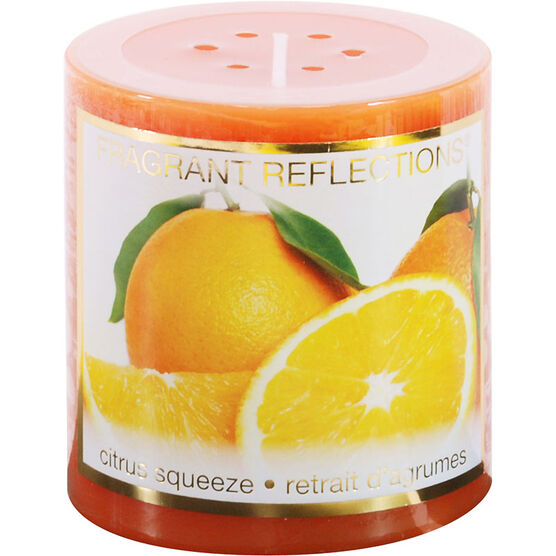 Fragrant Reflection Pillar Candle - Citrus Squeeze - 3 inch