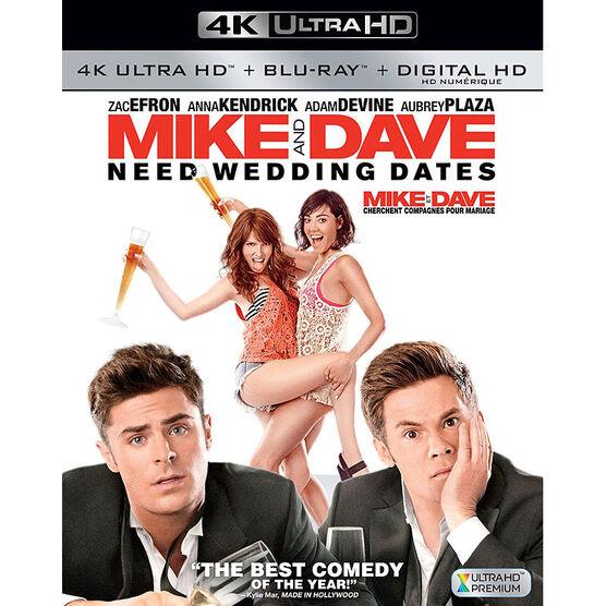 Mike and Dave Need Wedding Dates - 4K UHD Blu-ray
