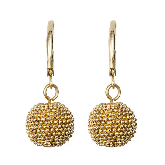 Anne Klein Pendant Pave Drop Earrings - Gold