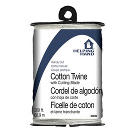Helping Hand Handcut Cotton Twine with Cutting Blade - 60.96m