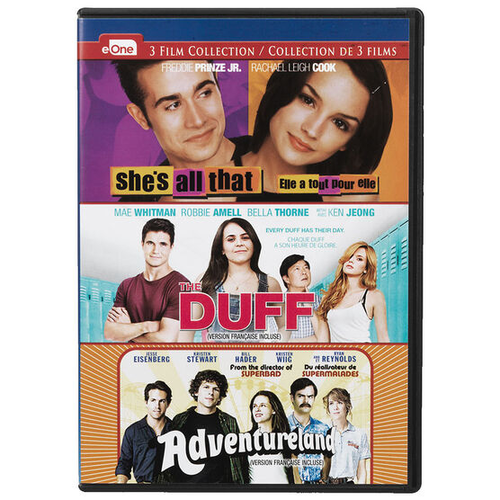 She's All That / The DUFF / Adventureland - DVD