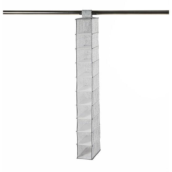 NeatFreak Closet Organizer - Pixel Grey - 10 Shelf