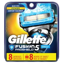 Gillette Fusion5 Proshield Razor Blades - Chill - 8's