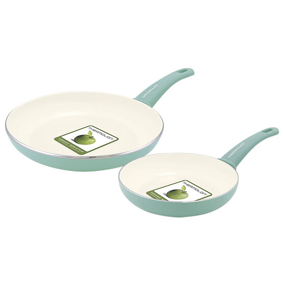 GreenLife Soft Grip Fry Pan Set - Turquoise - 2 pack