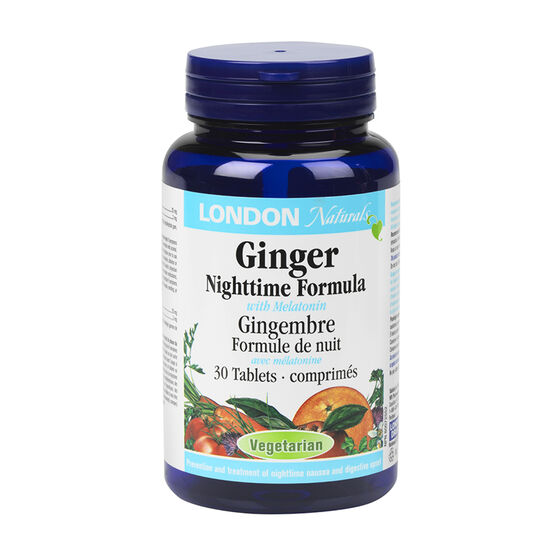 London Naturals Ginger Night Time Formula with Melatonin - 30's