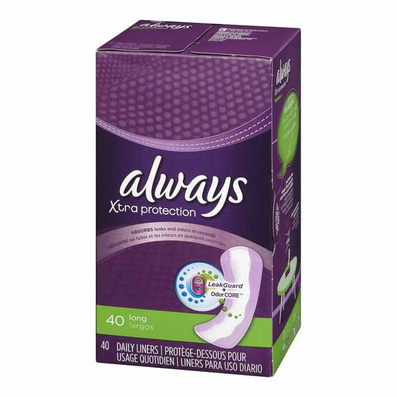 Always Dri-liners Pantiliners - Unscented - Long - 40's