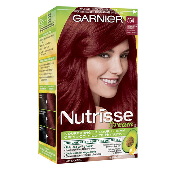 Garnier Nutrisse Cream Permanent Hair Colour - 564 Intense Medium ...