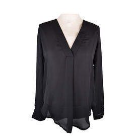 Lava V-Neck Blouse with Front Pleat