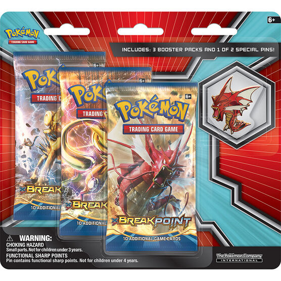 Pokémon XY8 Breakpoint 3 pack with Pin Blister - Assorted