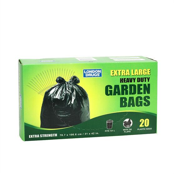 London Drugs Heavy Duty Garden Bags - Black - 20's