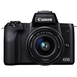Canon EOS M50 with EF-M 15-45mm Lens - Black - 2680C011