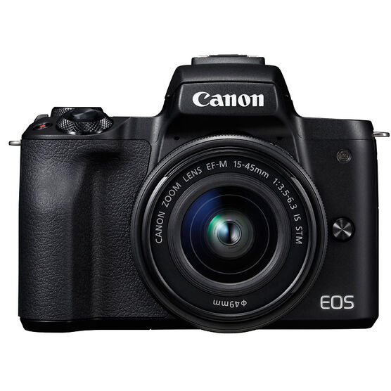 PRE-ORDER: Canon EOS M50 with EF-M 15-45mm Lens - Black - 2680C011