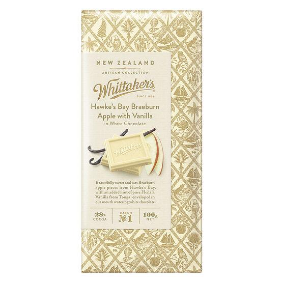 Whittaker's White Chocolate - Braeburn Apple with Vanilla - 100g