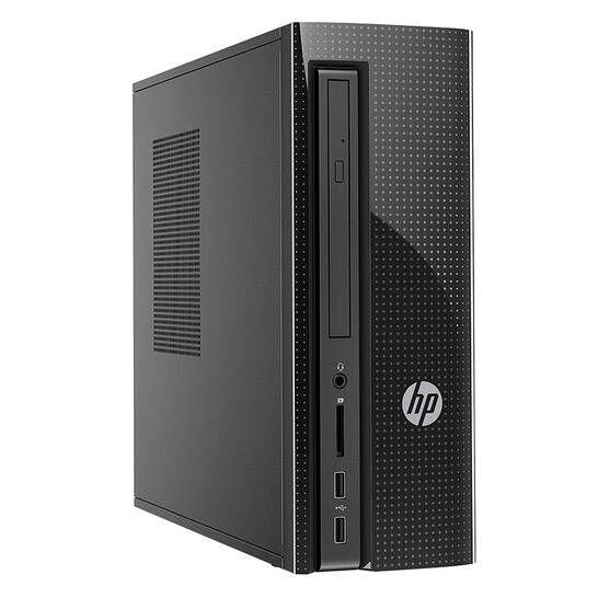 HP 260-a069 Slim Desktop Computer - Black - V8Q23AA#ABL - DEMO UNIT OPEN BOX