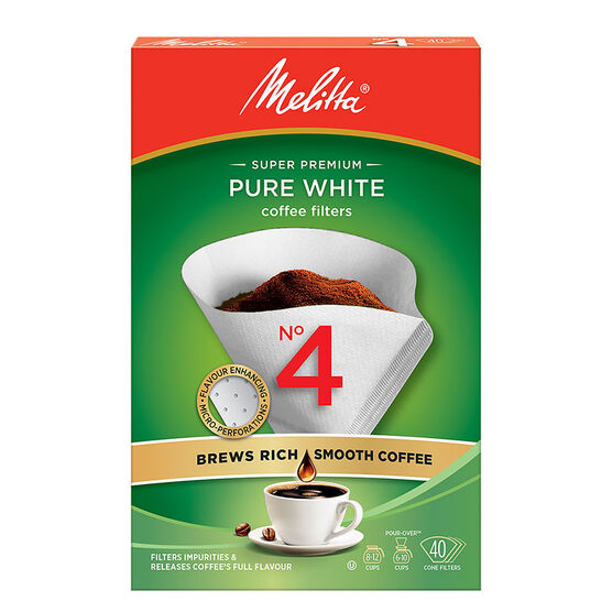 Melitta Coffee Filters - No.4 - White - 40's