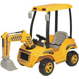 Wonderlanes Ride On Battery Operated Backhoe