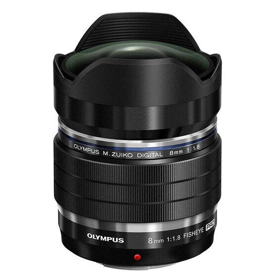 Olympus M.Zuiko 8mm f1.8 Fisheye PRO - Black - V312030BU000