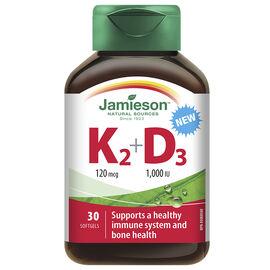 Jamieson K2 120 mcg + D3 1000 IU - 30's