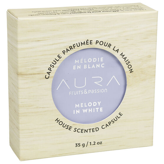 Fruits & Passion Aura House Scented Wax Capsule - Melody in White