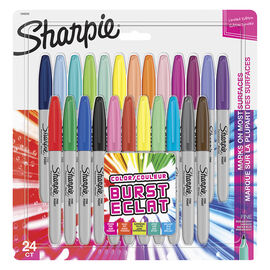 Sharpie Fine Colour Burst Markers - Assorted - 24 Pack