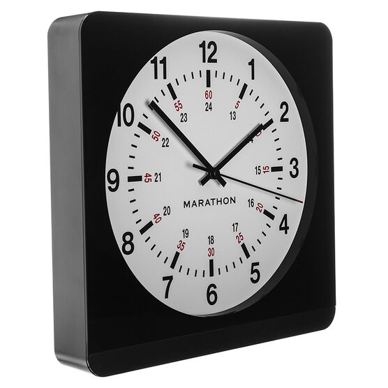 Marathon Large Analog Clock - White/Black - CL030057BK-WH1
