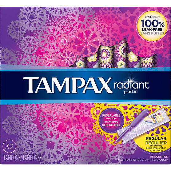 Tampax Radiant Tampons - Regular - 32's