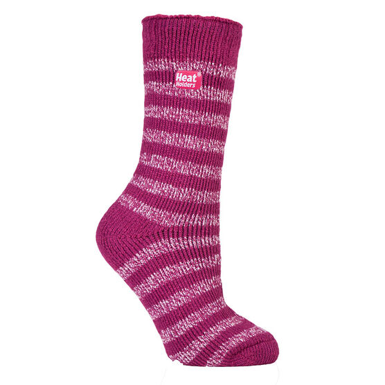 Heat Holders Ladies Twist Crew Sock - Berry