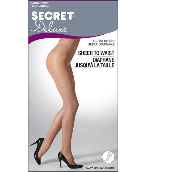 Secret Deluxe Ultra Sheer to Waist - D - Black