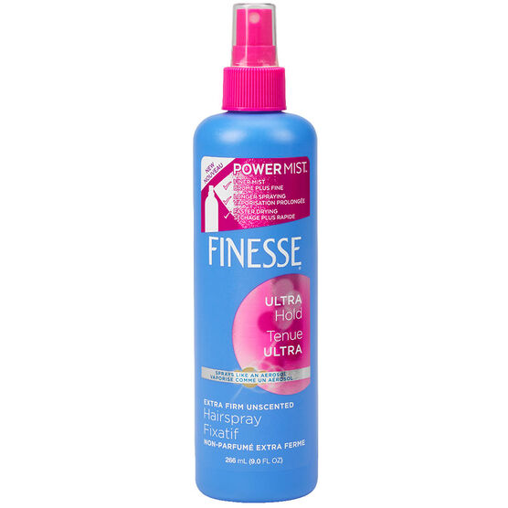 Finesse Extra Firm Unscented Hairspray - Ultra Hold - 266ml
