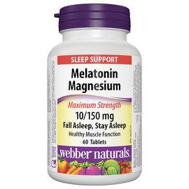 Webber Naturals Melatonin 10mg Magnesium 150mg - 60's