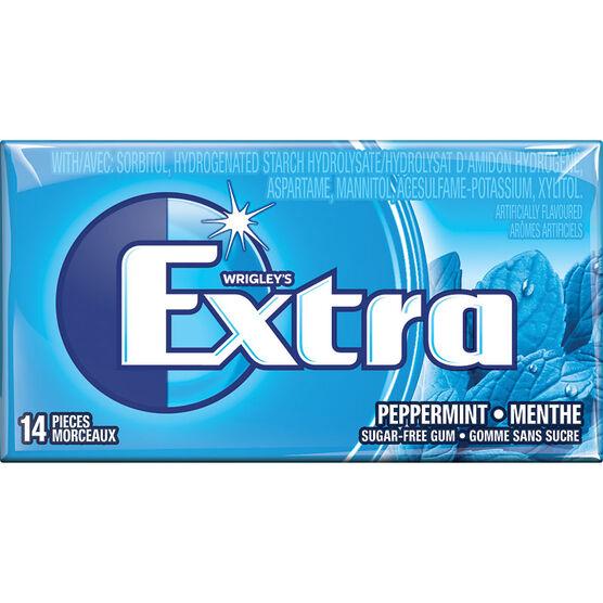 Wrigley Extra Gum - Peppermint - 14 piece