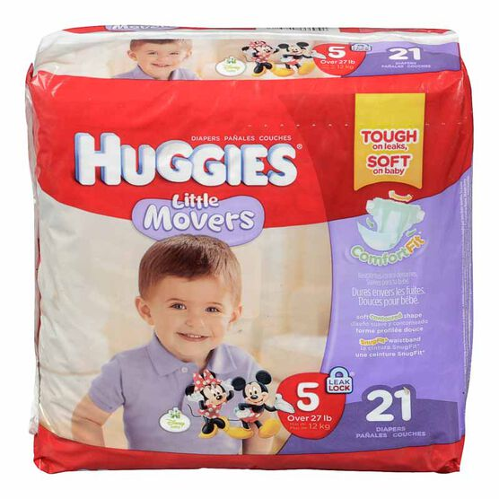 Huggies Little Movers Diapers - Size 5 - 21's