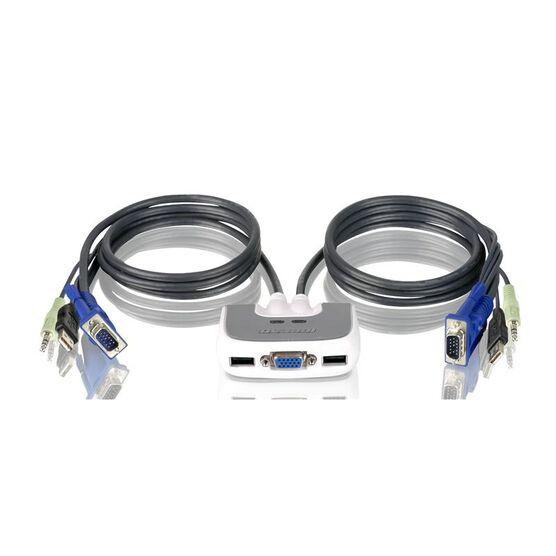 IOGEAR 2-Port MiniView Micro USB plus KVM Switch - GCS632U