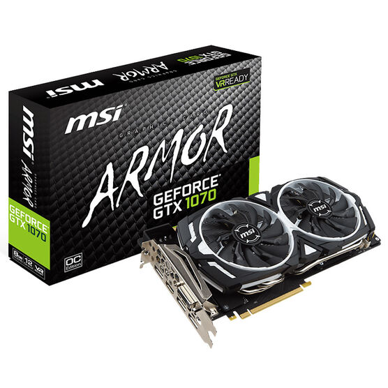 MSI GeForce GTX 1070 Armor 8G OC Gaming Video Card