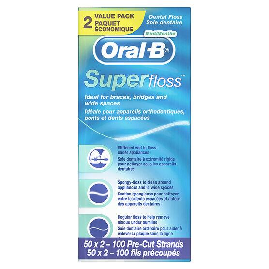 Oral-B Super Floss Value Pack - 2 x 50's